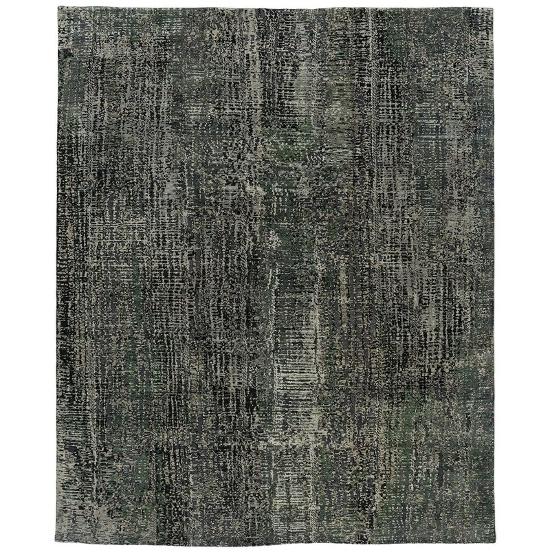 Tufenkian One Of A Kind Bedaya Coaxide Hand Knotted 8 X 10 Wool Dark Gray Area Rug Wayfair