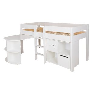 Single (3') Mid Sleeper Bed With Desk By Stompa