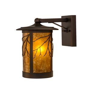 Greenbriar Oak 1-Light Outdoor Wall Lantern By Meyda Tiffany Outdoor Lighting