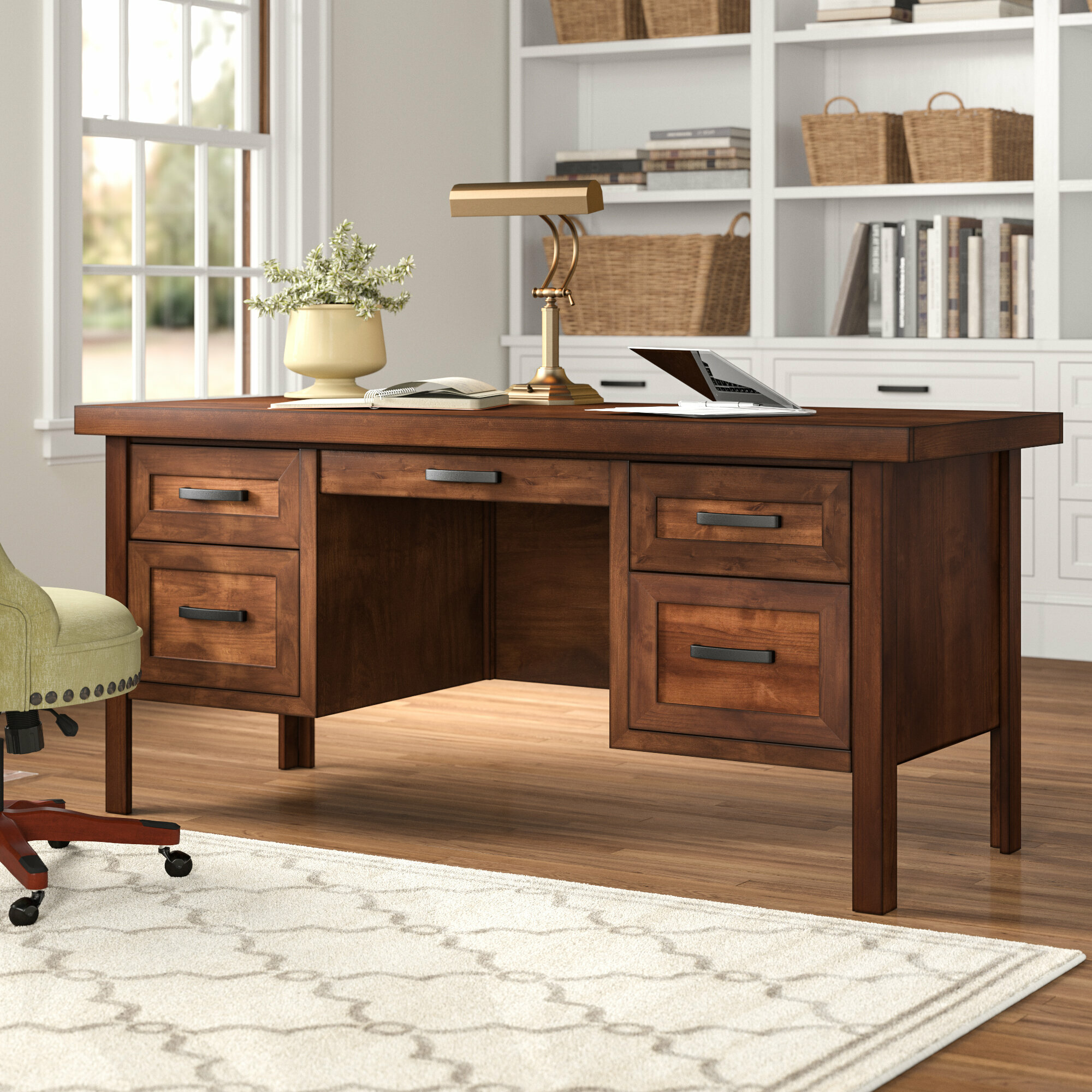 Pooler Solid Wood Executive Desk