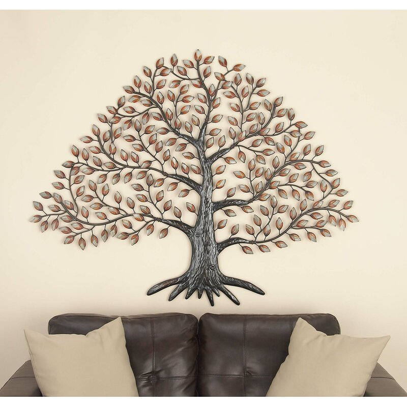 89b5155713 Cole & Grey Metal Tree Wall Décor & Reviews | Wayfair