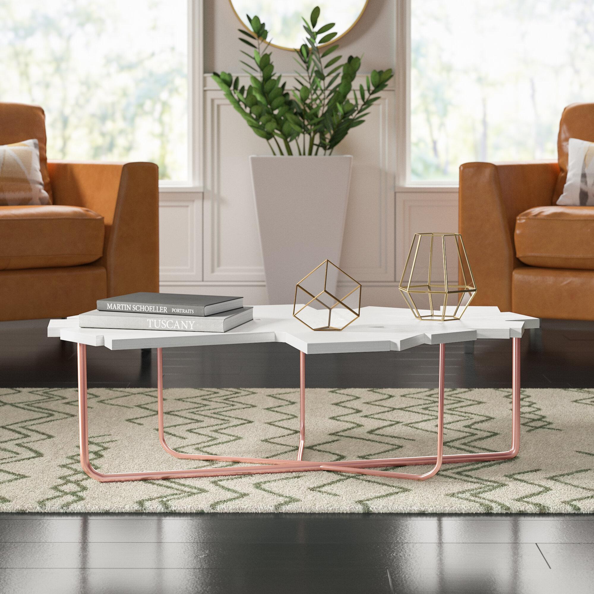 Mercury Row Cutlip Cross Legs Coffee Table Reviews Wayfair