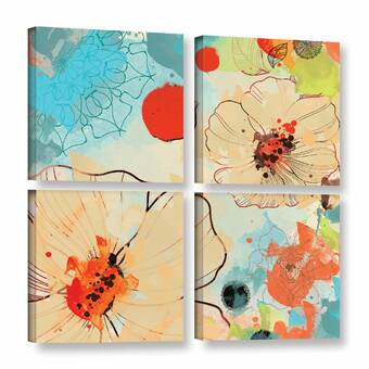 Red Barrel Studio Quince Blossom 2 Piece Photographic Print On Wrapped Canvas Set Wayfair