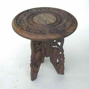 Thelonius Carved Wooden End Table
