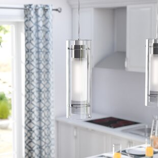 Emerson Cylindrical 1-Light Cylinder Pendant by Latitude Run