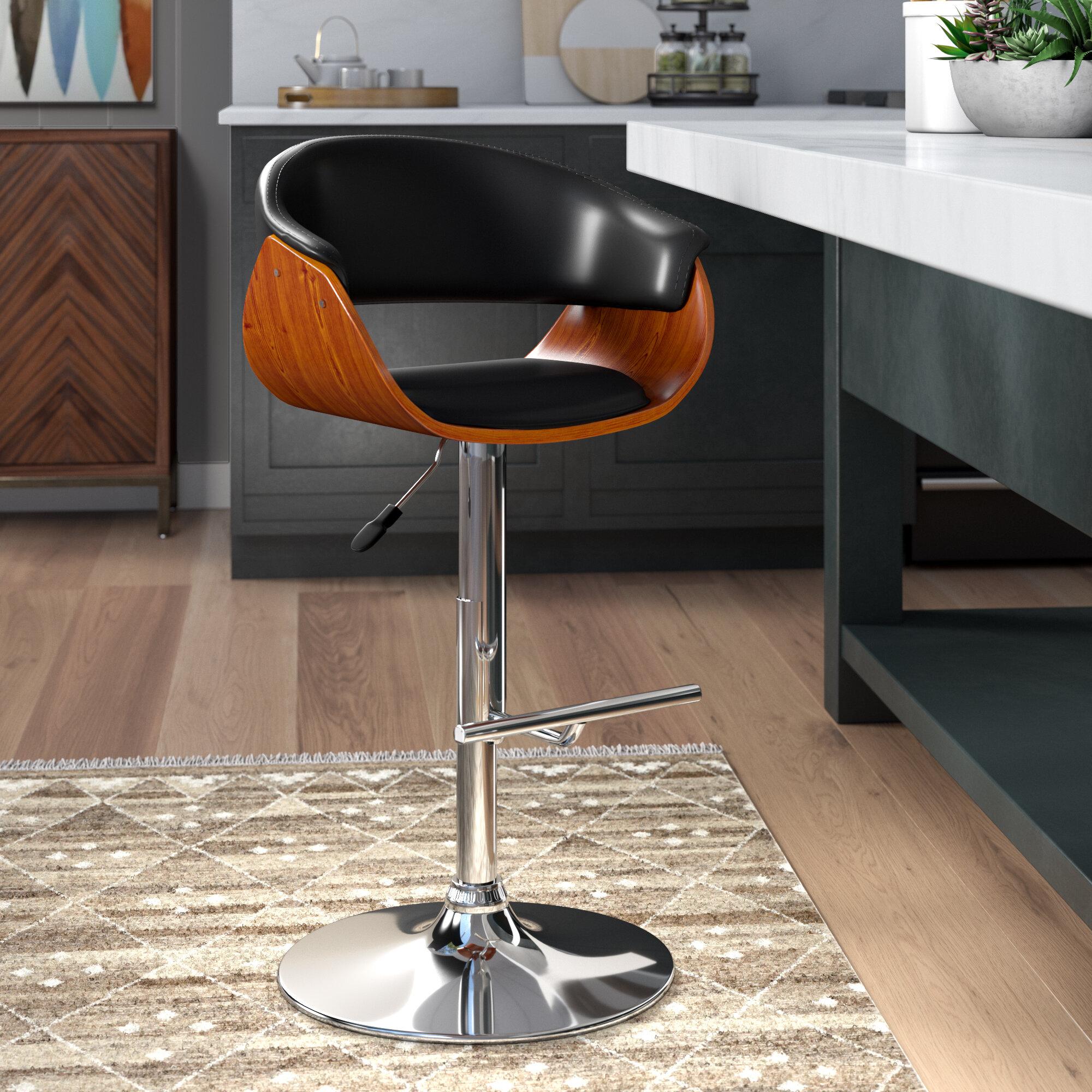 Corrigan studio march adjustable height swivel bar stool reviews wayfair