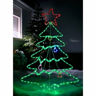 Pre-Lit Christmas Tree Rope Lighted Display