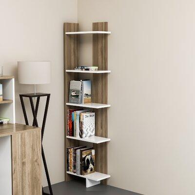 Zipcode Design Lynnfield Corner Bookcase Color (Body/Front): White/Walnut