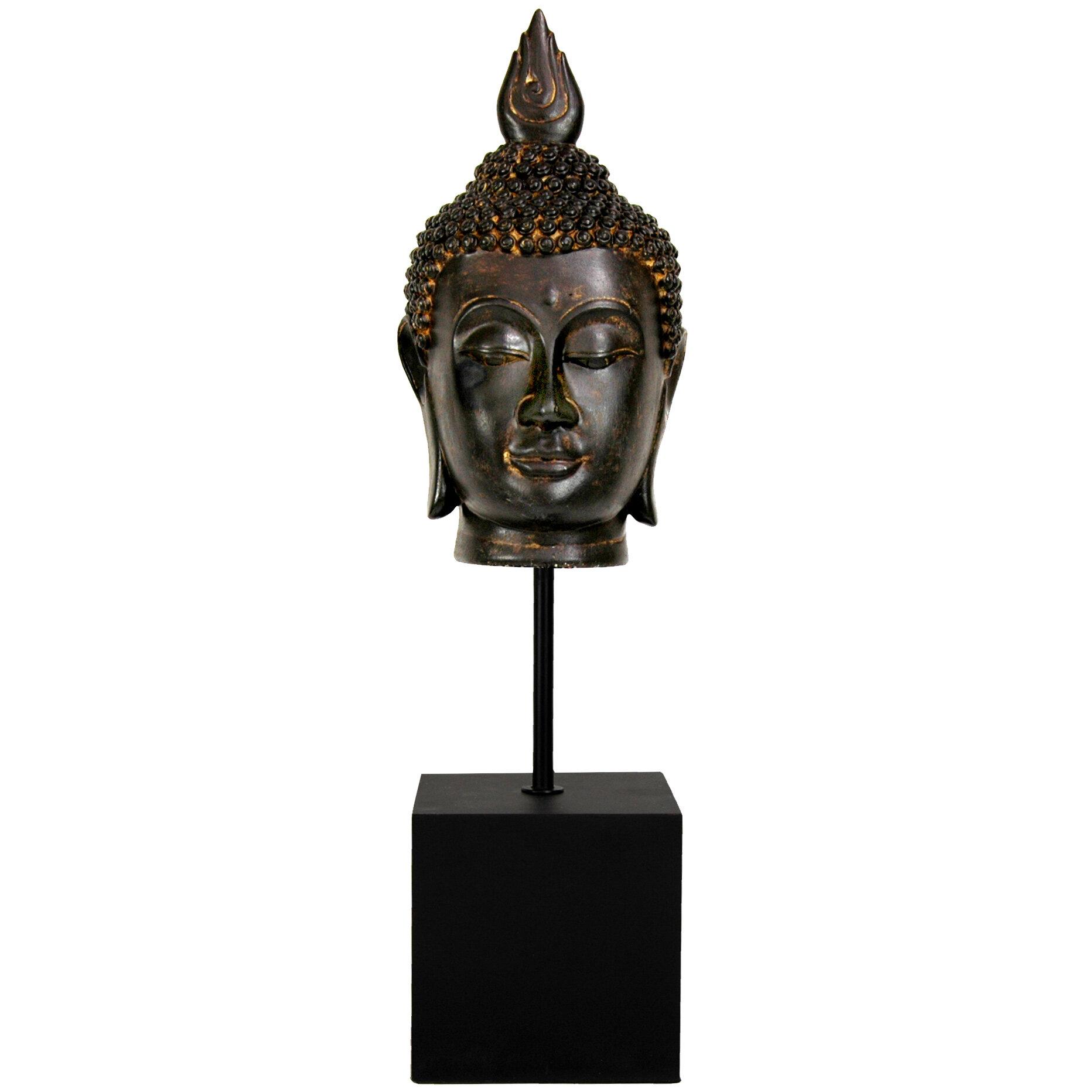 World Menagerie Hood Burmese Buddha Head Bust Reviews Wayfair
