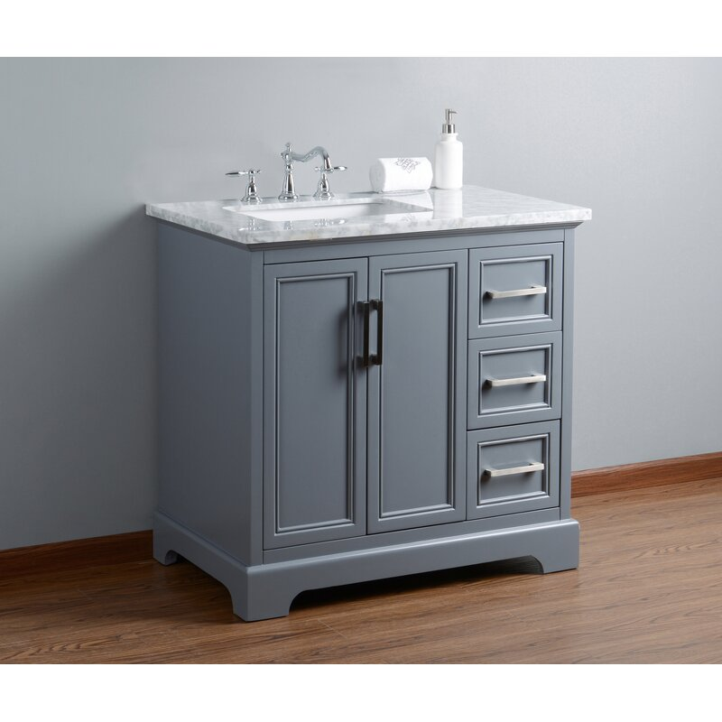 Beachcrest Home Ravenworth 36 Single Bathroom Vanity Set Reviews