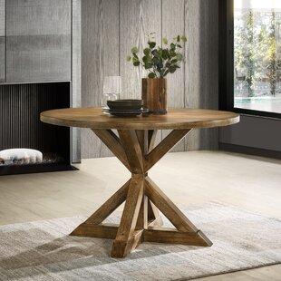 Gracie Oaks Leonila Cross-Buck Base Dining Table