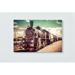 Railway Motif Magnetic Wall Mounted Cork Board By Ebern Designs