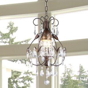 Splendora 1-Light Crystal Pendant by House of Hampton