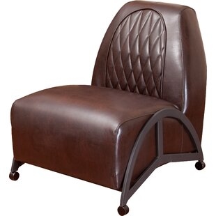 Home Loft Concepts Dysert Leather Slipper Chair