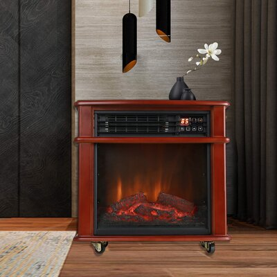 Infrared Quartz Electric Freestanding Insert Heater Caesar Fireplace