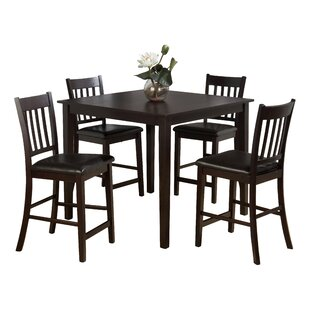 Manns 5 Piece Dining Table Set Charlton Home