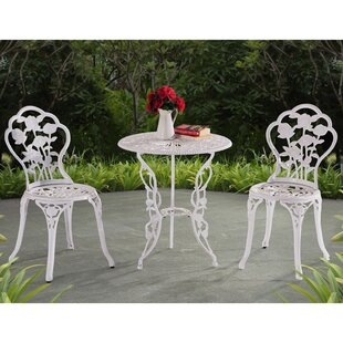 Lykins 3 Piece Bistro Set by Alcott Hill
