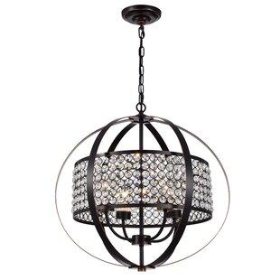 Ferdinand 4-Light Globe Chandelier by House of Hampton