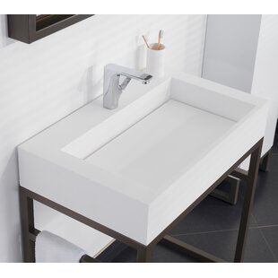 Ronbow Marco Ceramic Rectangular Vessel Bathroom Sink
