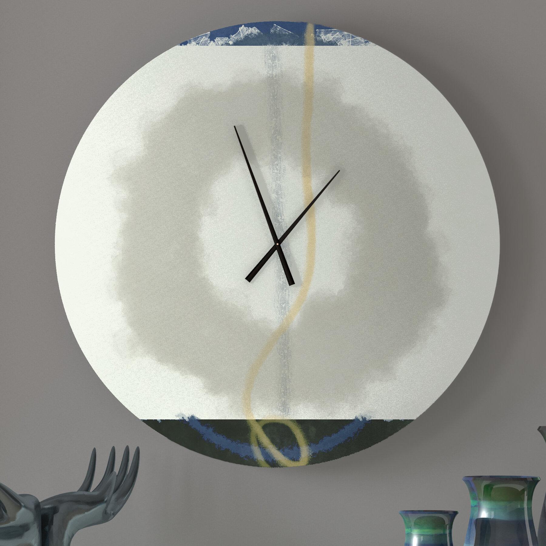 Ebern Designs Unmistakable Adequate Abstract Metal Wall Clock Wayfair