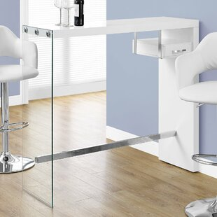 Ebern Designs Wyatt Tempered Glass Home Bar