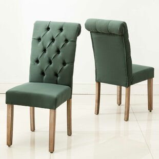 Scholl Roll Top Upholstered Dining Chair (Set of 2) Gracie Oaks