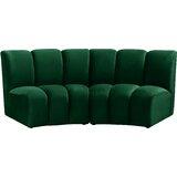 Robertsville Velvet Modular 83 Armless Sofa by Latitude Run®