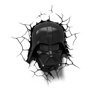 3D Light FX 3D EP.7 Star Wars Darth Vader Helmet Deco 4-Light Night Light