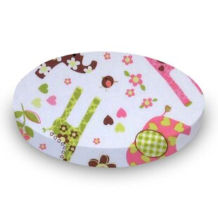 Online Reviews Elephants and Giraffes Fitted Crib Sheet BySheetworld