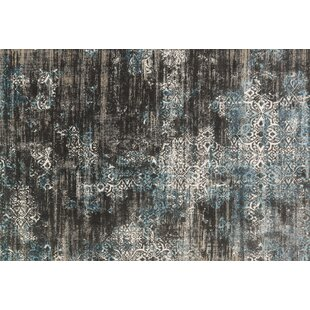 Abella Charcoal Area Rug by House of Hampton