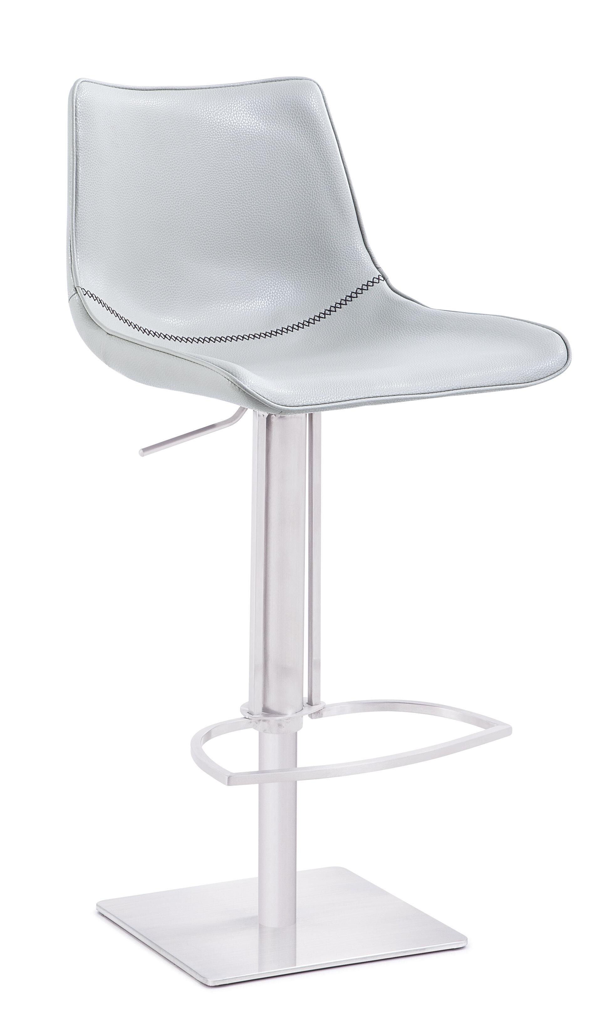 Image of: Orren Ellis Sahara Modern Adjustable Height Swivel Bar Stool Wayfair