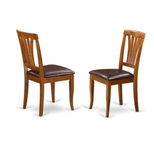 Square Side Chair in Faux Leather (Set of 2) August Grove