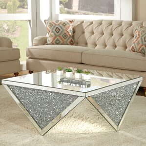 Blaker Mirrored Coffee Table by Rosdorf Park