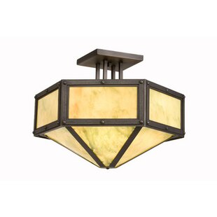 Rivets Hexagon Drop Semi Flush Mount by Steel Partners