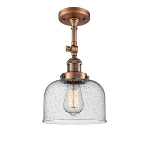 Adne 1-Light Semi Flush Mount by 17 Stories