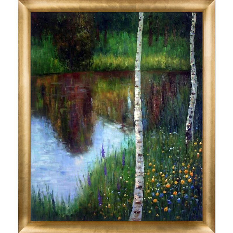Tori Home Landscape with Birch Trees by Gustav Klimt Framed Painting ...