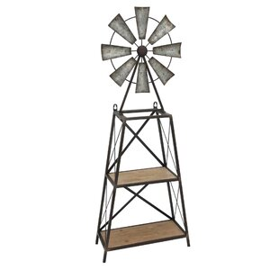 Wood Windmill Table or Wall Shelf