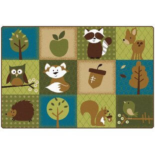Top Reviews Nature's Friends Toddler Area Rug By Carpets for Kids Premium Collection