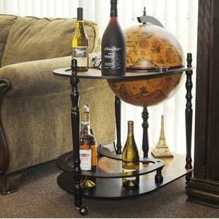 Astoria Grand Globe Drinks Trolley 420mm-Red
