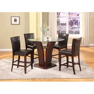 Herculis 5 Piece Counter Height Dining Set Latitude Run