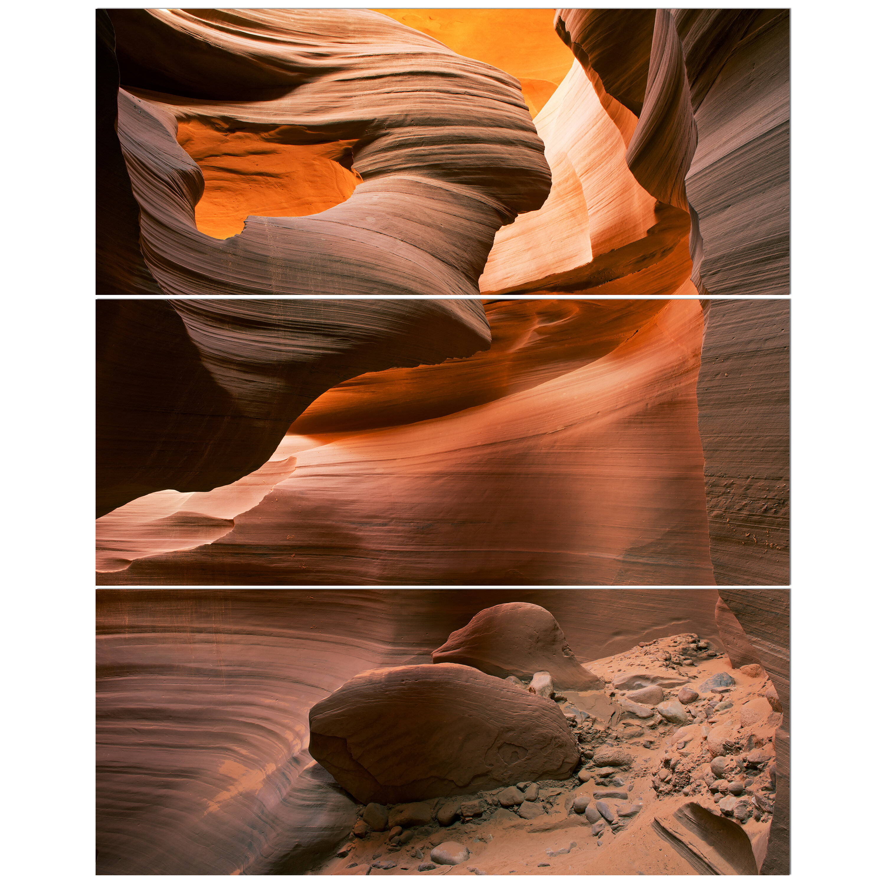 East Urban Home Lower Antelope Slot Canyon In Reflected Sunlight Photographic Print Multi Piece Image On Wrapped Canvas Wayfair