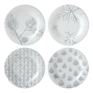 Alpine Assorted 4 Piece Dessert Plate Set