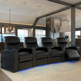 Home Theater Row Seating (Row of 4) by Winston Porter