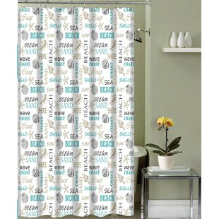 Carlton Paradise Shore Canvas Fabric Single Shower Curtain