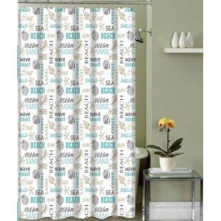 Carlton Paradise Shore Canvas Fabric Single Shower Curtain