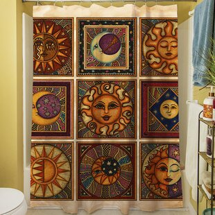 Celestial Squares Shower Curtain by Manual Woodworkers & Weavers