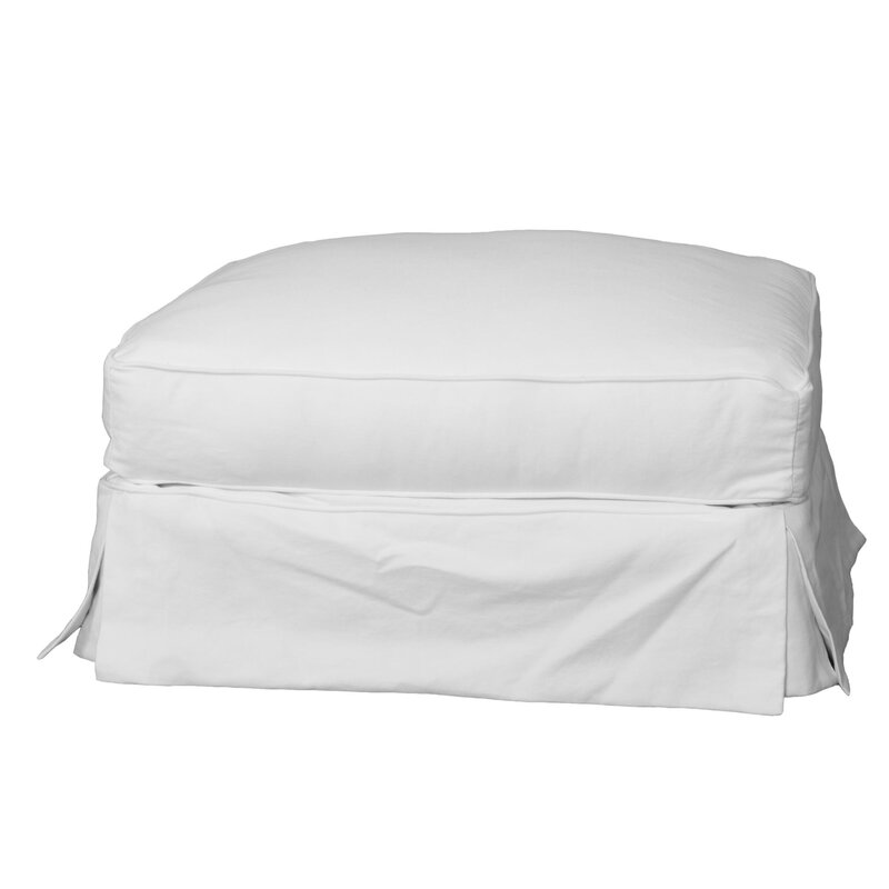 ottoman sure slipcover on garden fit product free cotton shipping classic home orders
