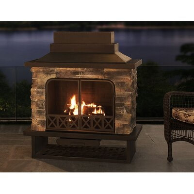 Outdoor Fireplaces You'll Love in 2020 | Wayfair on Quillen Steel Outdoor Fireplace id=25700