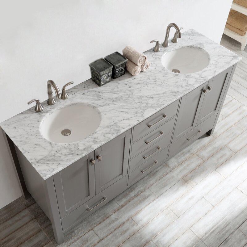 "Maskell 72"" Double Bathroom Vanity Set"