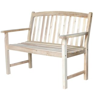 Jarnigan Slatback Wood Garden Bench by Charlton Home Sale